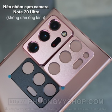 Dán camera Galaxy Note 20 Ultra - nền nhôm